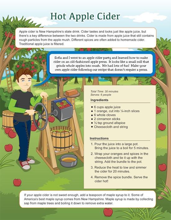 NH, Apple Cider Recipe