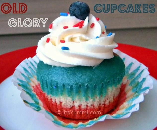 Old Glory Cupcake