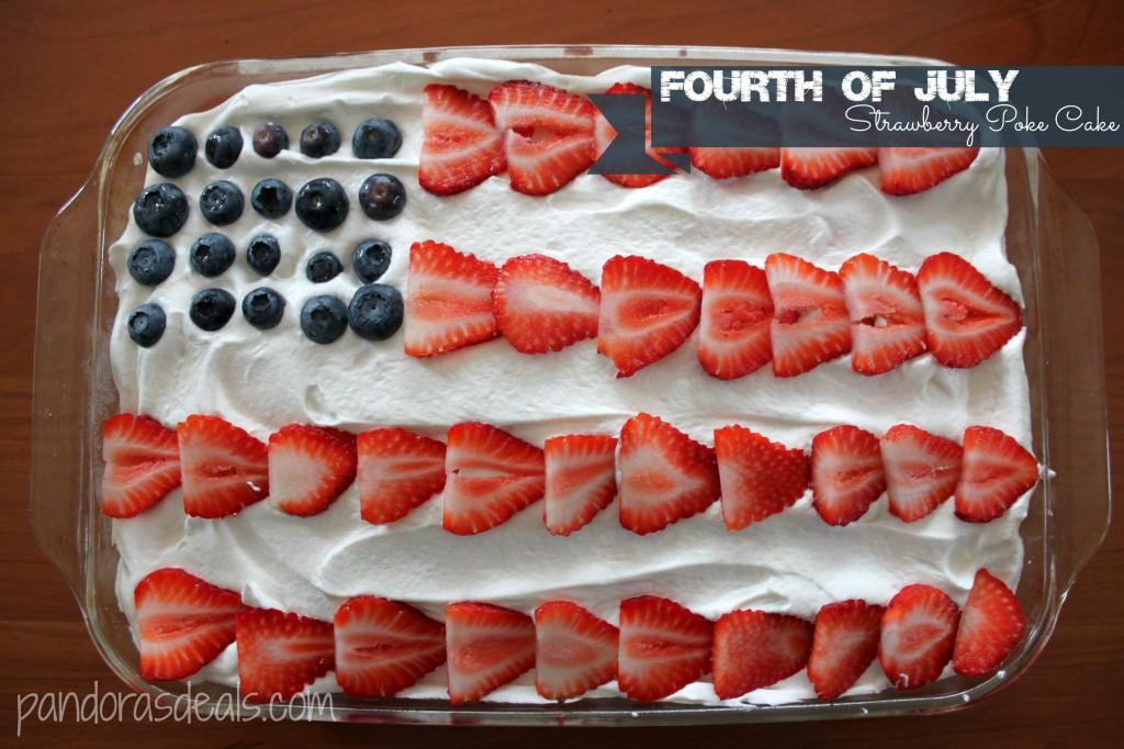 Flag Poke Cake