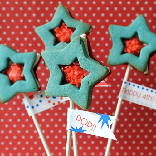 star cookie pops