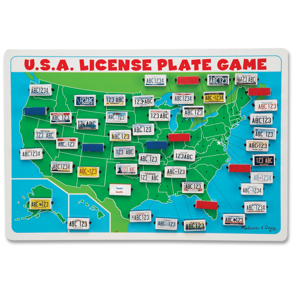 License Plate Travel Game