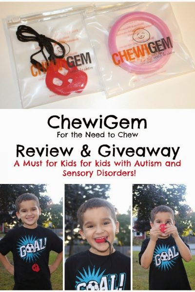 ChewiGem for the Need to Chew! Fashionable Sensory Chewable Jewelry ~ Review and Giveaway