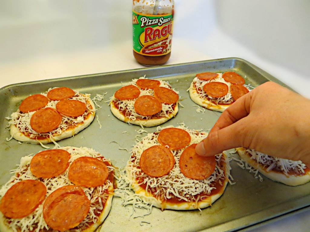 Biscuit Pizza ready to go in oven