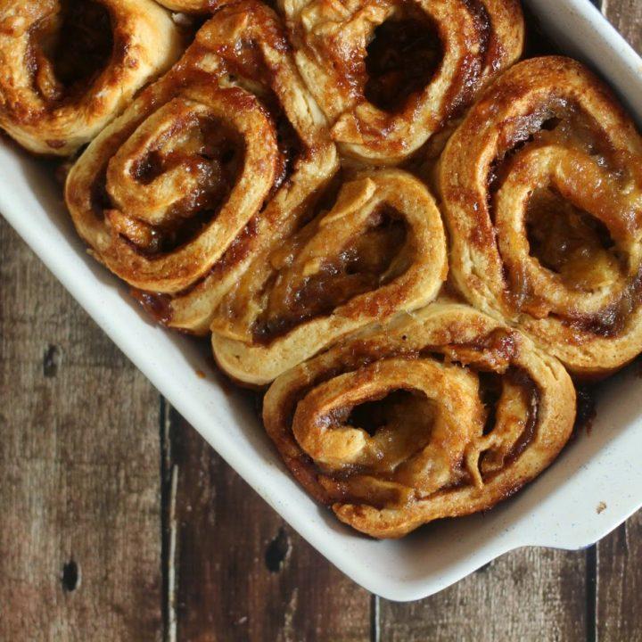 Apple Pie Cinnamon Rolls from Scratch