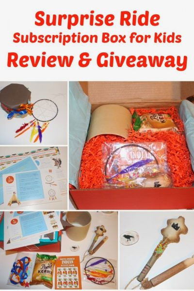Surprise Ride Subscription Box for Kids Review and Giveaway