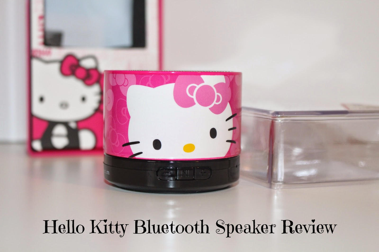 hello kitty bluetooth speaker review holiday gift guide the mommyhood life. Black Bedroom Furniture Sets. Home Design Ideas