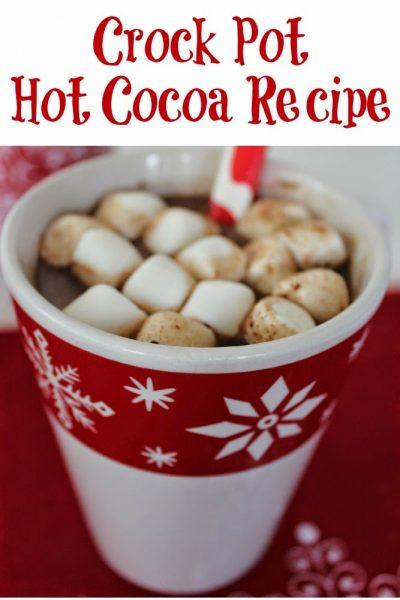 Hot Chocolate – Crock Pot Hot Cocoa Recipe!