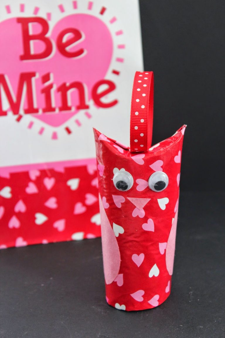 Toilet Paper Roll Owl Valentine's Day Craft for Kids