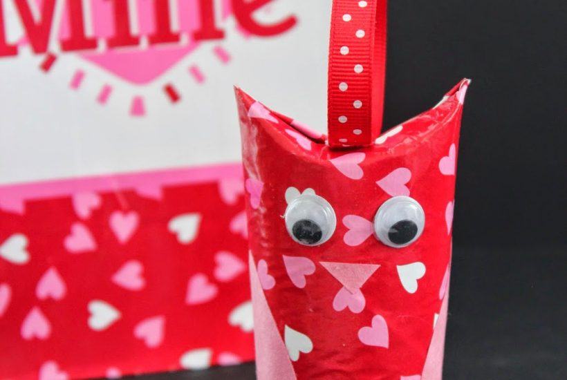 Valentines Day Owl from Toilet Roll