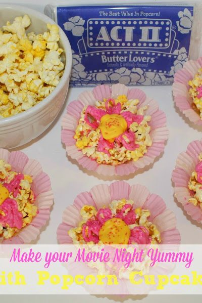 Make Your Movie Night Yummy with ACT II Popcorn Cupcakes ~ Recipe