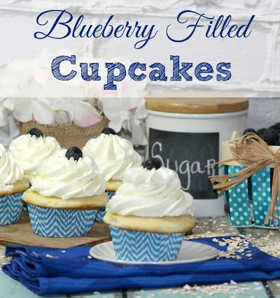 Blueberry Filled Cupcakes Recipe