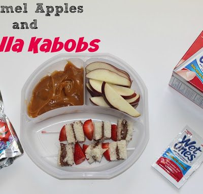 Make Lunch Boxes Fun ~ Nutella Kabobs and Caramel Apples!  #WishIHadAWetOnes