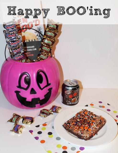 Halloween BOO'ing Kit Tutorial & Candy Bar Brownies Recipe!