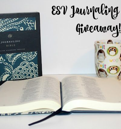 ESV Journaling Bible Giveaway!  #JournalingBible #FlyBy