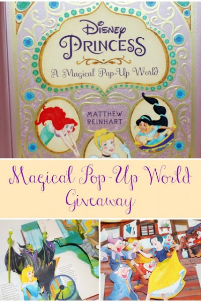 """Disney Princess A Magical Pop-Up World"" Book!  A Peak Inside + Giveaway and Coupon Code!"