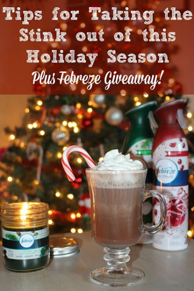 Tips for Taking the Stink out of Hosting this Holiday Season ~ Plus a Febreze Kit Giveaway!