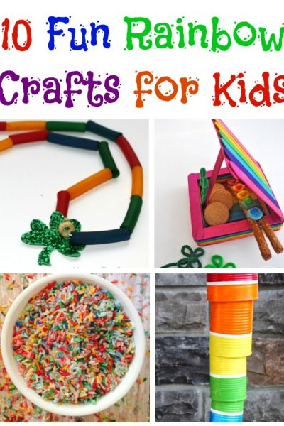 10 Fun Rainbow Crafts for Kids!