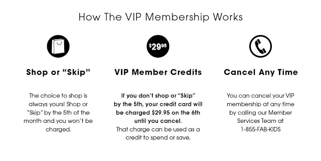 Back to school FabKids VIP Membership
