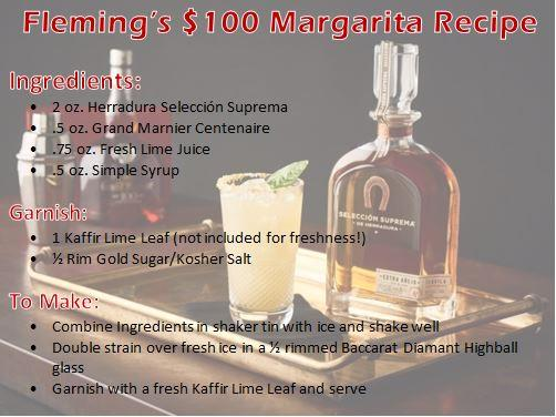Fleming's Prime Steakhouse Tampa $100 Margarita Recipe