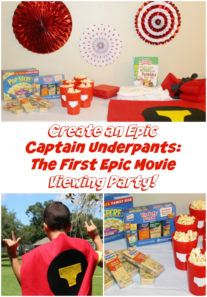 Create An Epic Captain Underpants The First Epic Movie Viewing Party With Movie Night Snacks And No Sew Costumes The Mommyhood Life