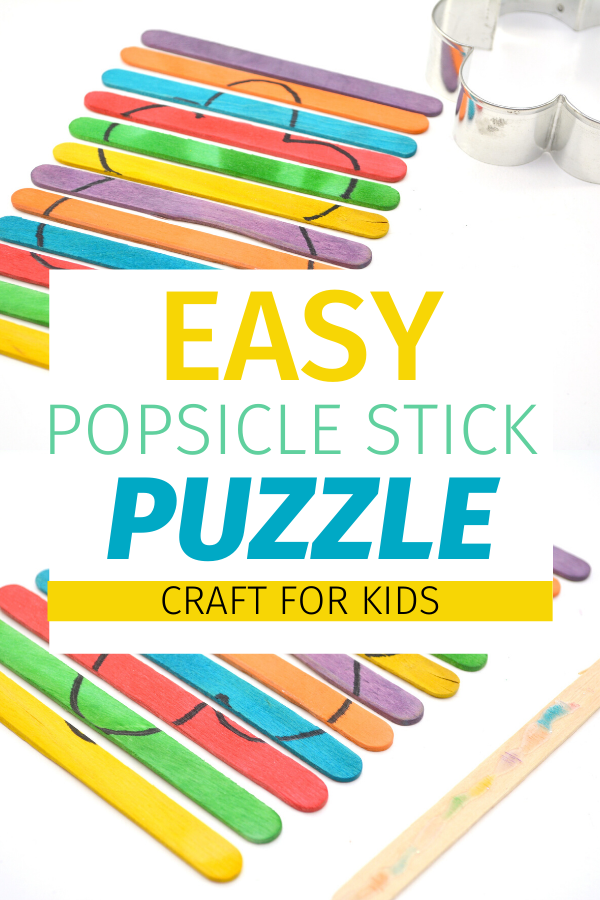 Easy Popsicle Stick Puzzle Craft for Kids