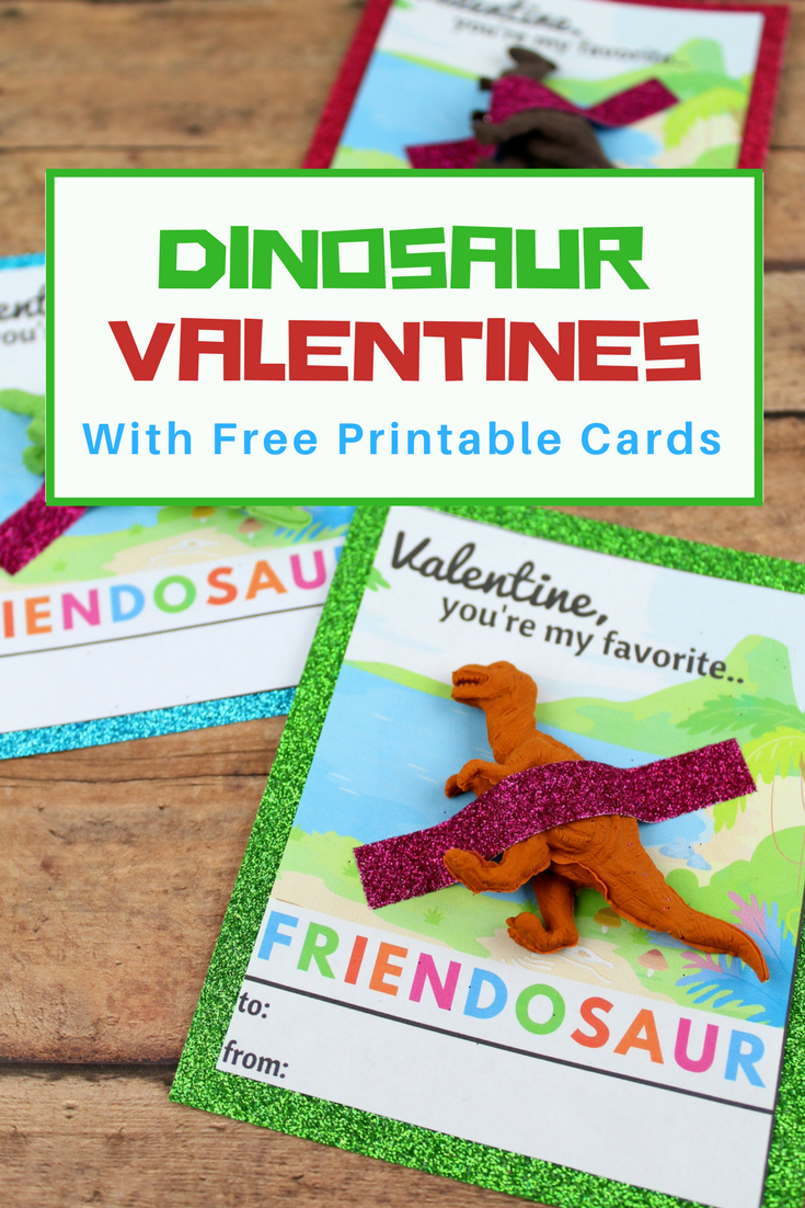 Free Printable Dinosaur Valentine's Day Cards for Kids