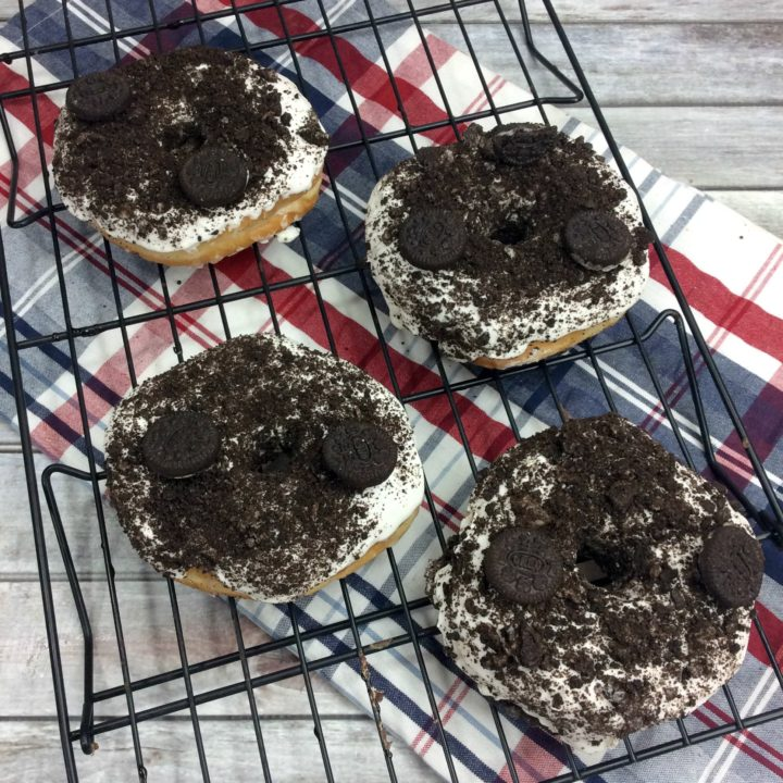 Cookies and Cream Air Fryer Donuts