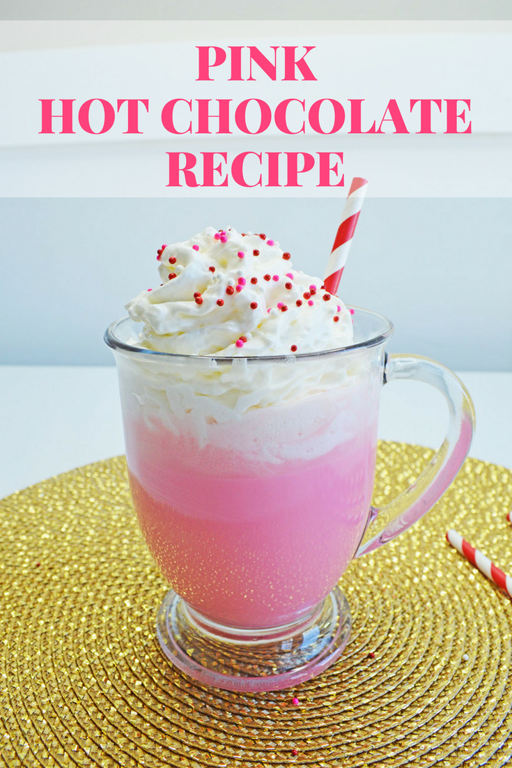 Delicious Pink Hot Chocolate Drink Recipe