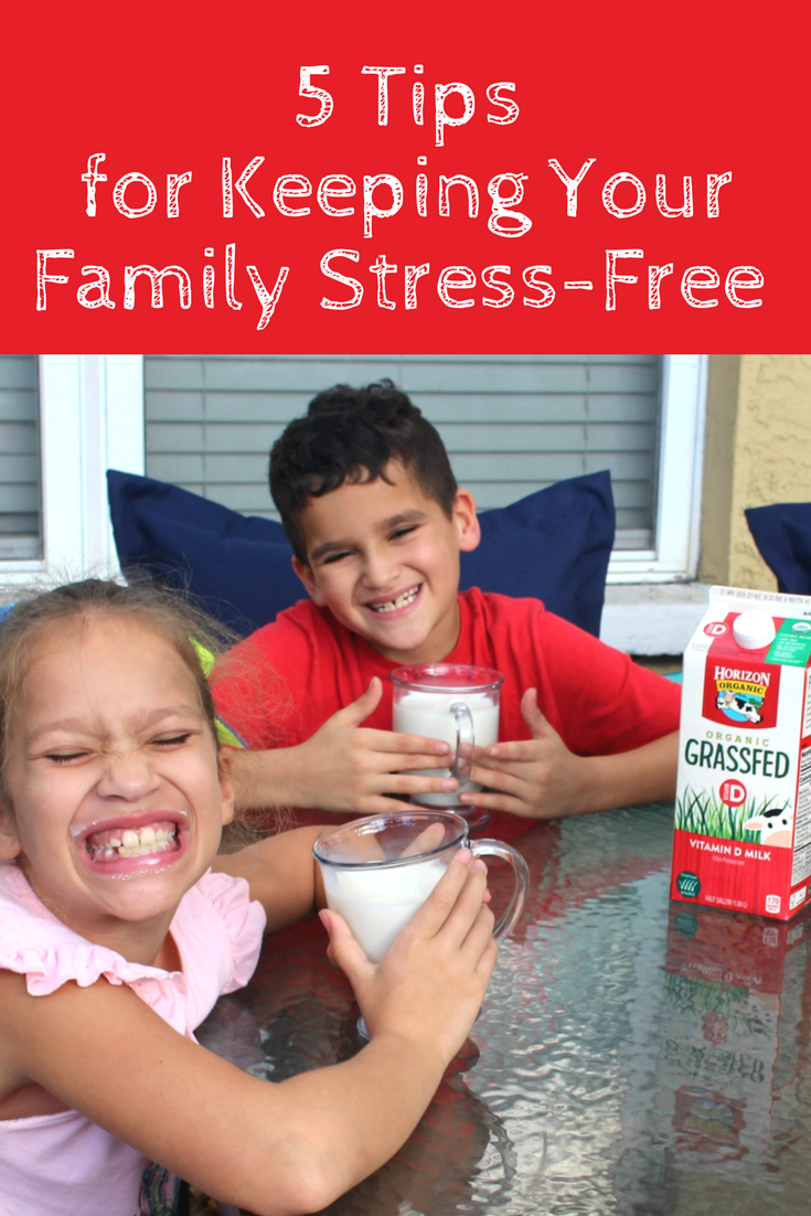 5 Tips for keeping your family stress-free even during the busy seasons of life!