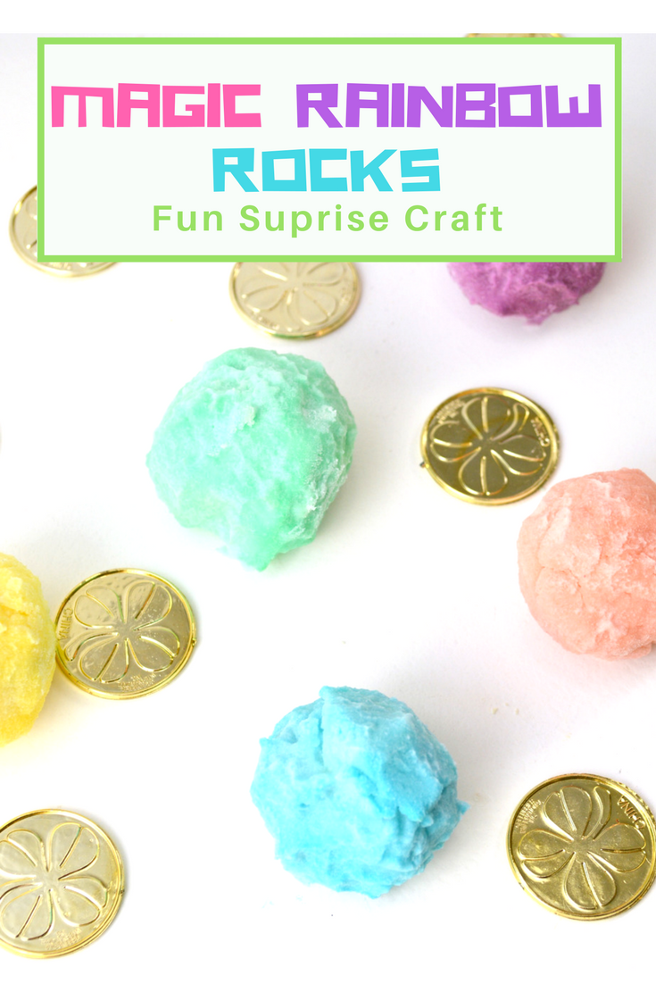 Surprise Magic Rainbow Rocks Craft for Kids Who Love Science