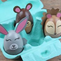 Adorable Woodland Animal Easter Egg Craft