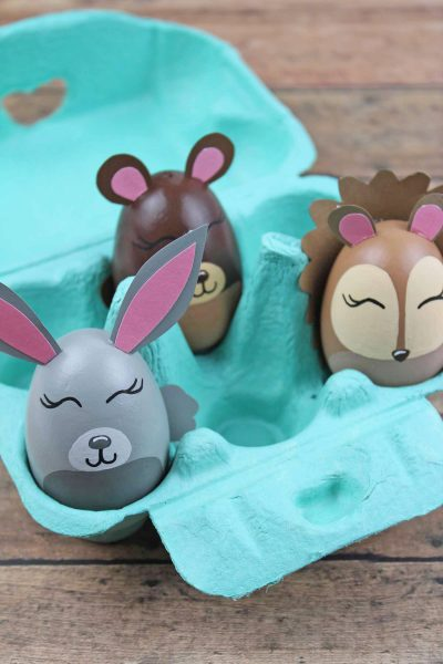 Adorable Woodland Animal Easter Egg Craft