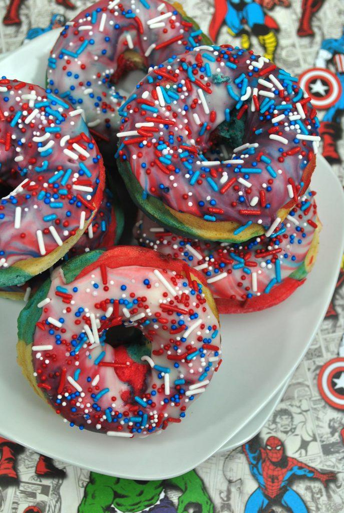 Pile of Superhero donuts
