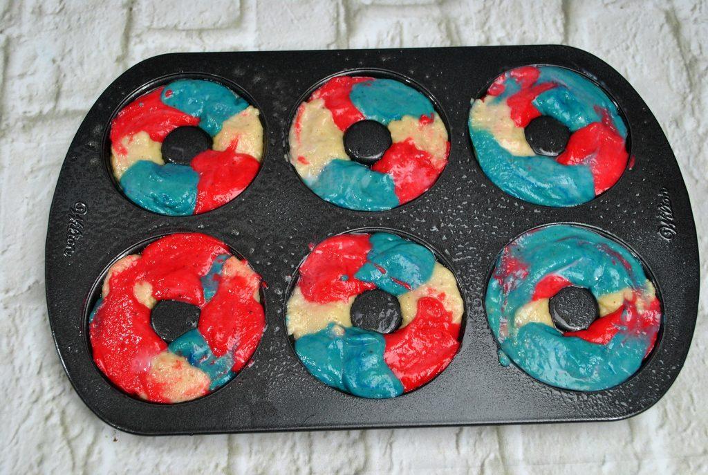 Superhero donuts in pan