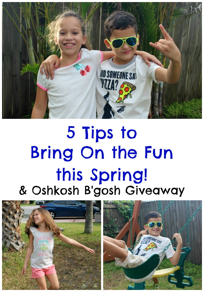 5 Tips to Bring On the Fun this Spring + Oshkosh B'gosh Giveaway