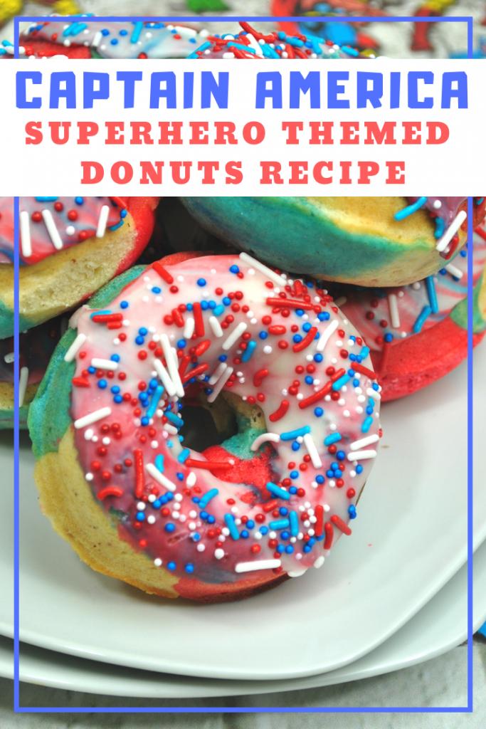 Superhero Donut Recipe Captain America
