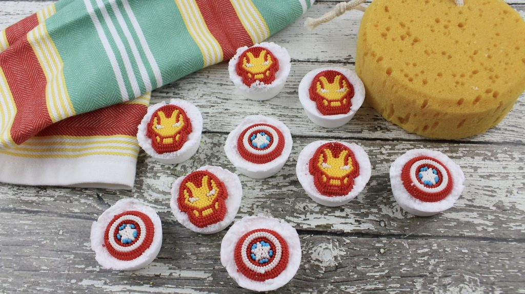 DIY Avengers Bath Bombs
