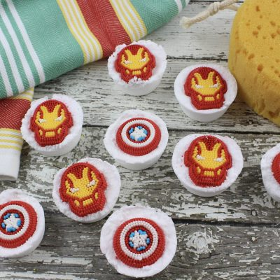 DIY Avengers Bath Bombs