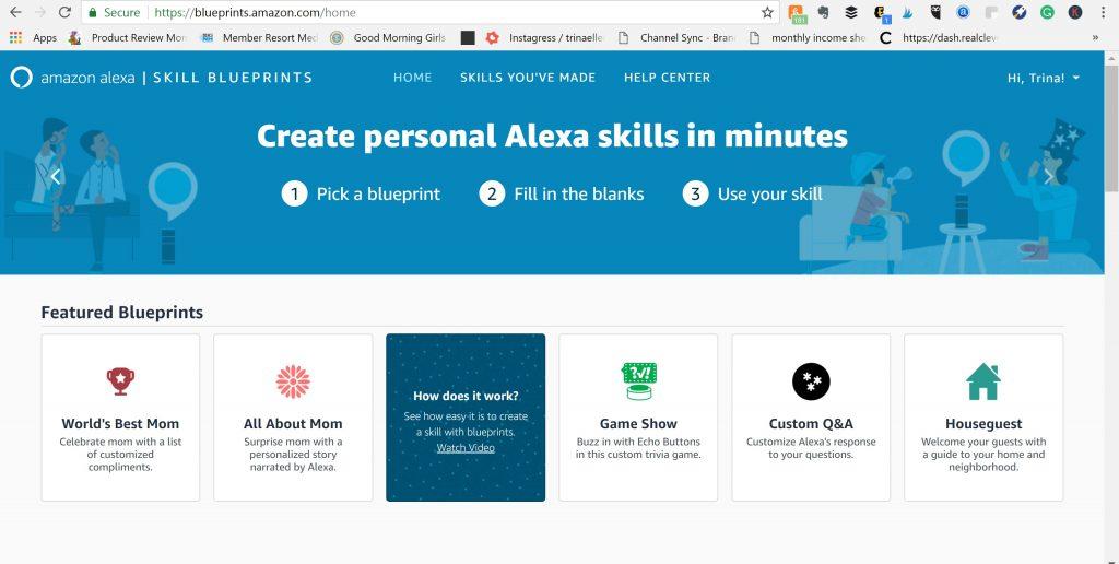 Amazon-Alexa-Skill-Blueprints