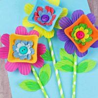 Drink Carrier Flower Craft
