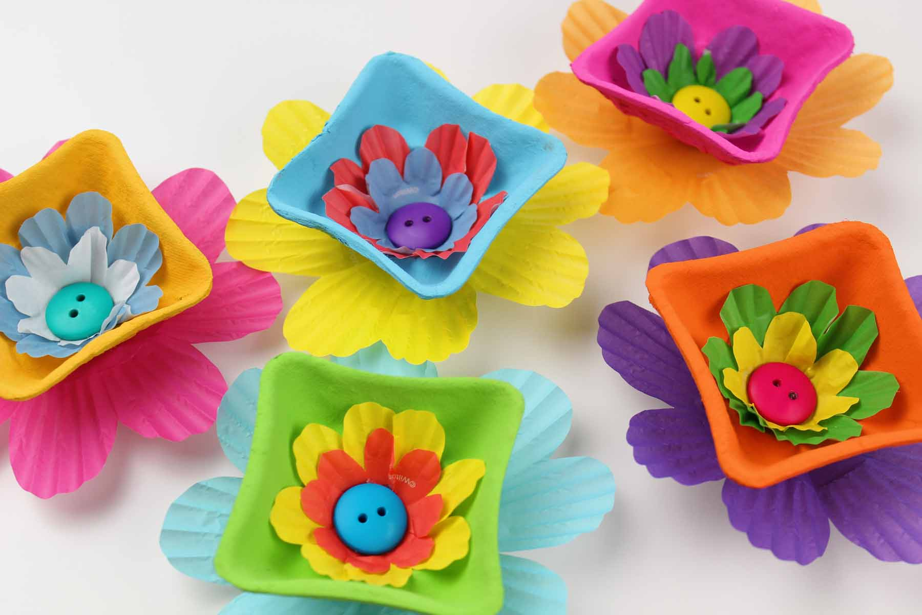 Drink Carrier Crafts Flower Heads