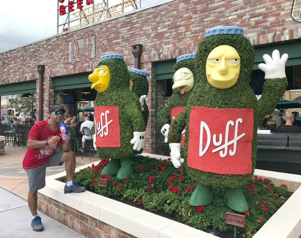 Flaming Moe Duff at Universal Studios