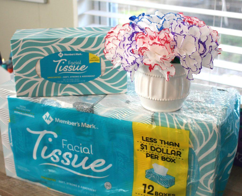 How to make tissue flowers easy DIY for kids