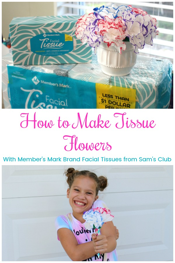 How to make tissue flowers easy DIY