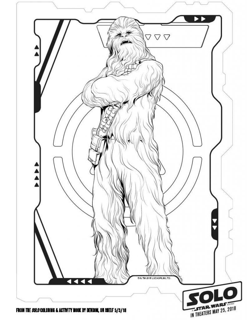 Star Wars Printable coloring Pages SOLO Chebacca