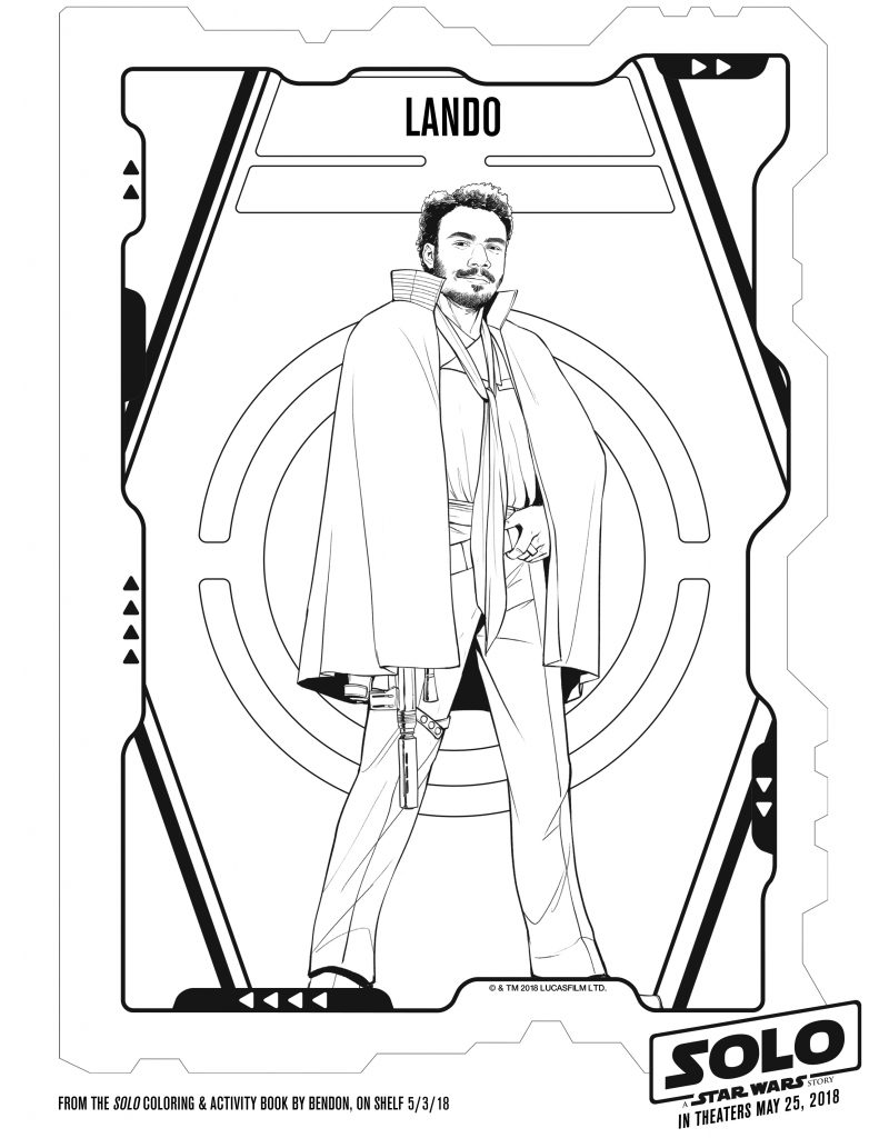 Star Wars Printable coloring Pages Activities SOLO