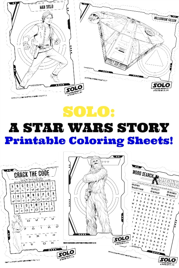SOLO Star Wars Printable coloring Pages Free