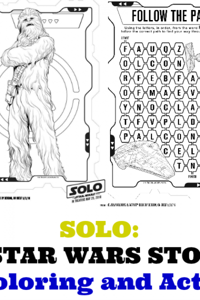 SOLO Star Wars Printable coloring Pages