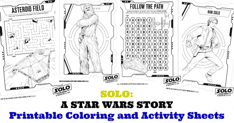 SOLO: A STAR WARS STORY – Star Wars Printable coloring Pages!