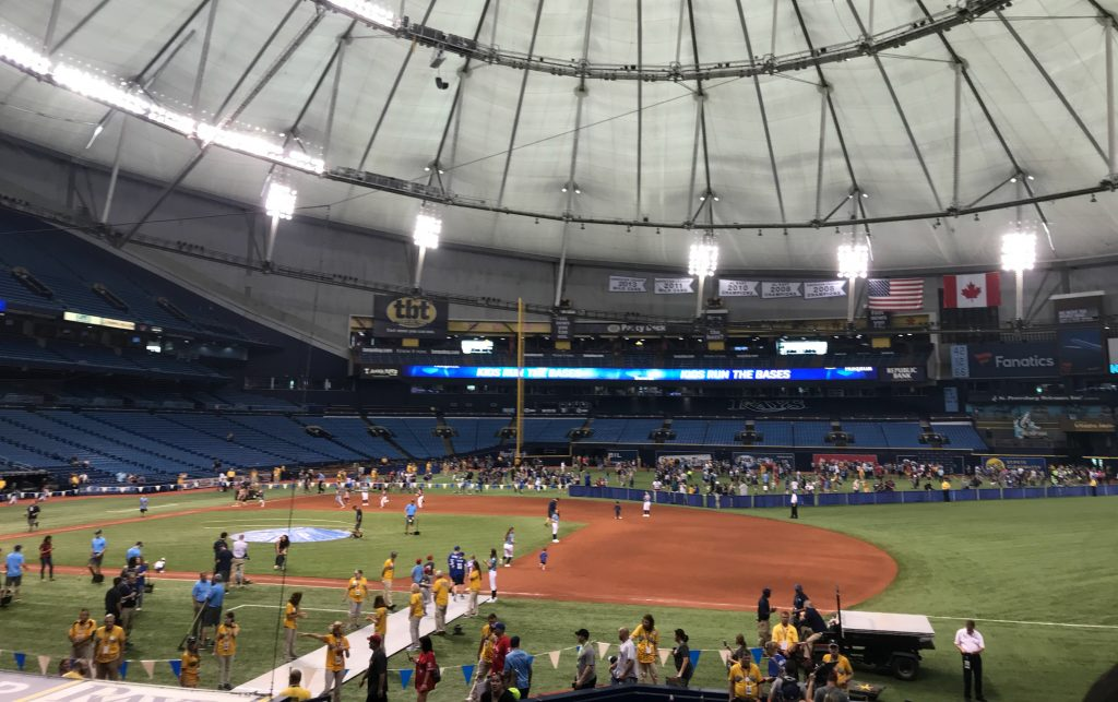 Tampa Bay Rays Family Fun Day Kids Run Bases